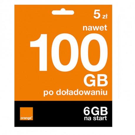 Starter Orange Free na Kartę 6GB za 5 PLN