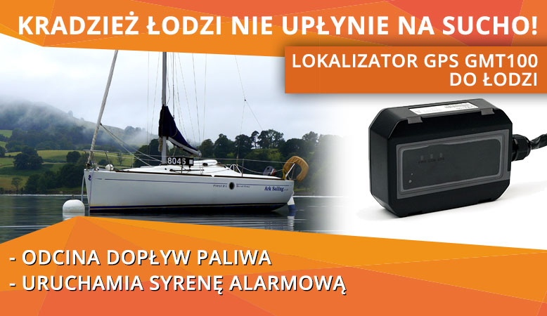 Lokalizator GPS do łodzi GMT100
